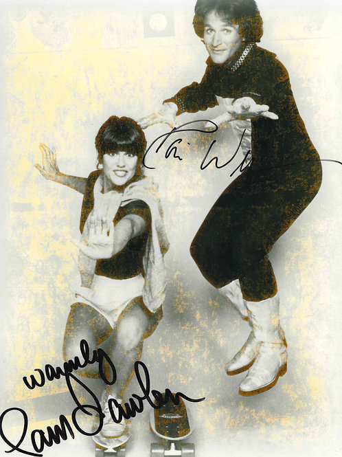 Robin Williams and Pam Dawber Signed 8x10 Photo