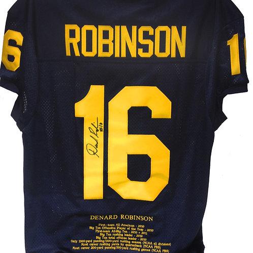 Denard Robinson Michigan Limited Ed. Stats Jersey