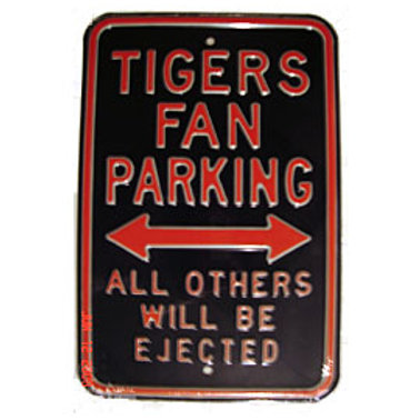 Detroit Tigers Fan Parking Sign