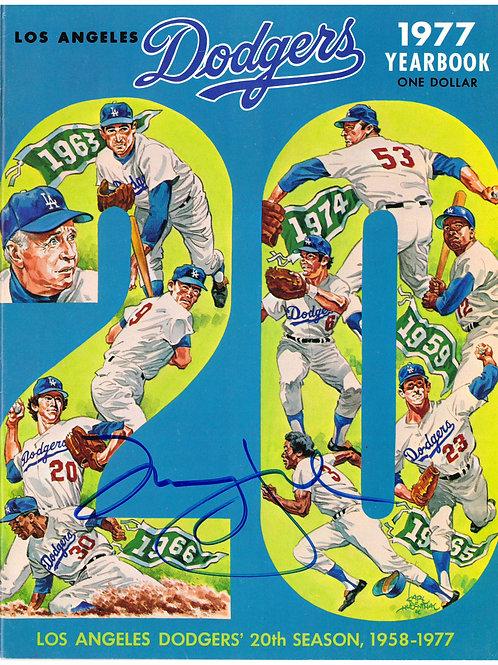 Don Drysdale Autographed 1977 LA Dodgers Yearbook