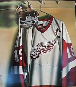 Steve Yzerman Red Wings Signed Lithograph
