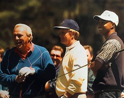 Arnold Palmer, Jack Nicklaus, Tigers Woods Photo