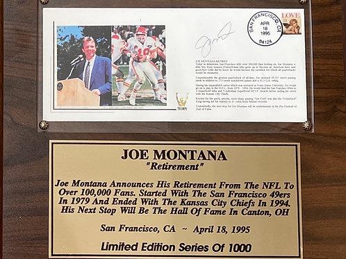 "Joe Montana Limited Edition Plaque - 13""x11"""