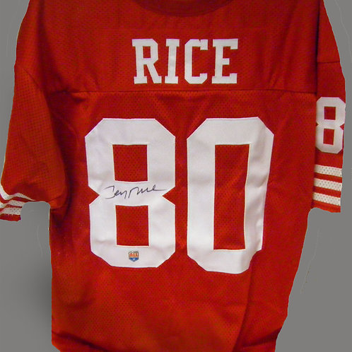Jerry Rice Signed Throwback Jersey