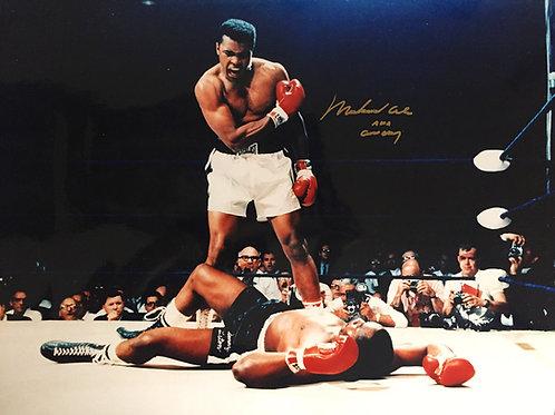 Muhammad Ali/Sonny Liston Framed Photo, Ali Signed
