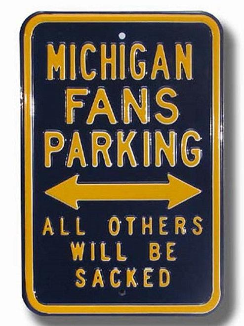 University of Michigan Fan Parking Sign