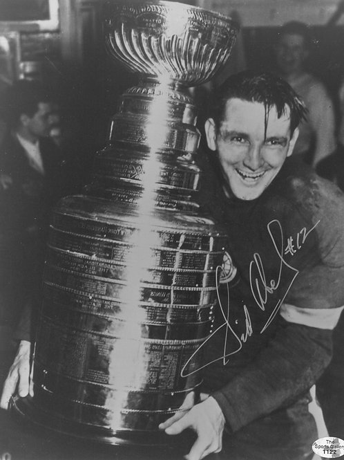 Sid Abel Detroit Red Wings - Signed 8x10 Photo