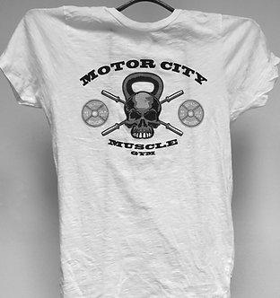 White Men's Burnout Logo T-Shirt