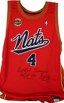 Dolph Schayes Signed Syracuse Nationals Jersey