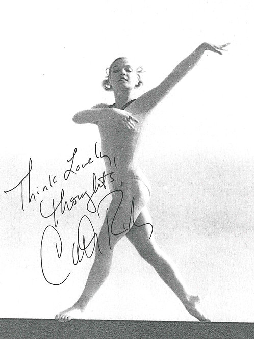 Cathy Rigby Think Lovely Thoughts Autographed Photo