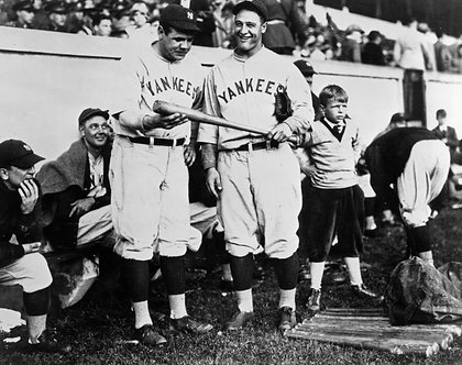 Babe Ruth & Lou Gehrig Photo - Black & White