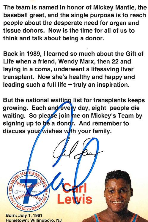 Carl Lewis Autographed Pamphlet