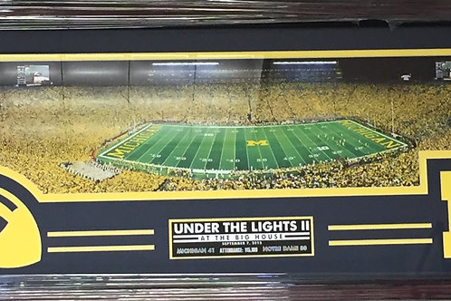 """Michigan vs Notre Dame """"Under the Lights"""" Panorama"""