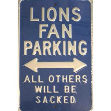 Detroit Lions Fan Parking Sign