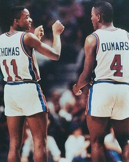 Isiah Thomas Joe Dumars Detroit Pistons Photo