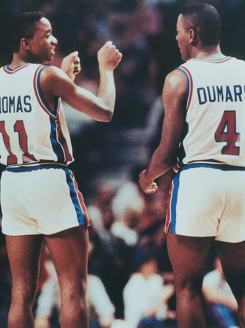 Isiah Thomas Joe Dumars Detroit Pistons Photo