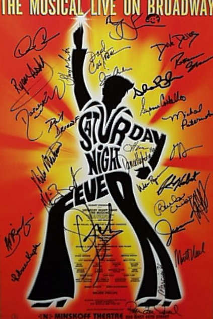 Autographed Saturday Night Fever on Broadway