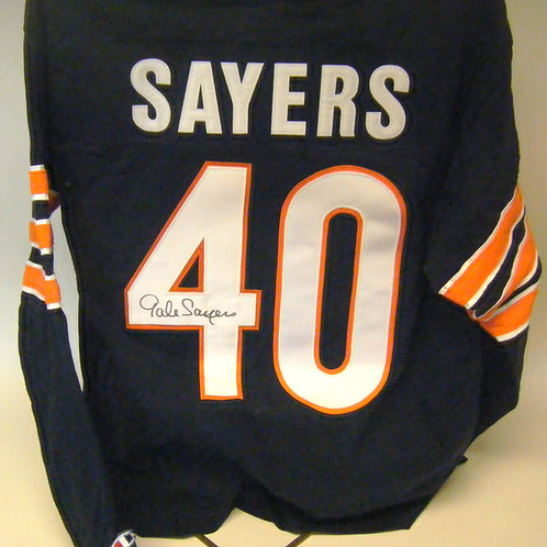 Gale Sayers Autographed Throwback Jersey