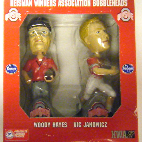 Woody Hayes and Vic Janowicz Bobbleheads