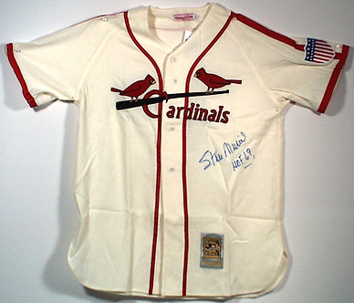 Stan Musial Signed Cardinals Jersey Mitchell Ness