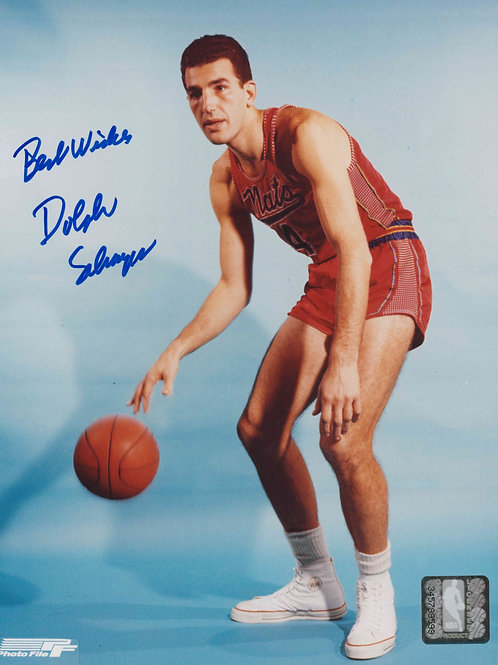 Dolph Schayes Autographed Nats 8x10 Photo