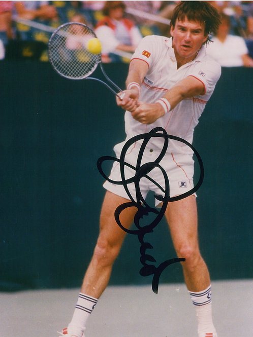 Jimmy Connors - Signed 8x10 Photo - Backhand 1