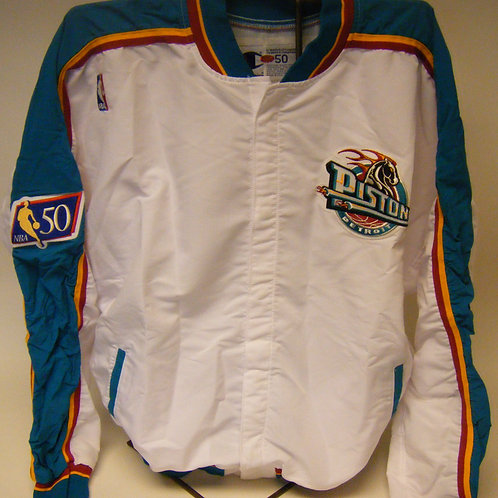 Authentic Detroit Pistons Warmup Jacket