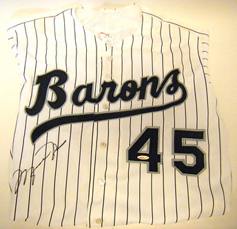 Michael Jordan Autographed Barons Jersey