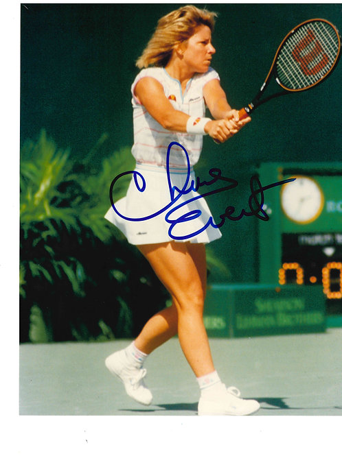 Chris Evert Autographed Photo