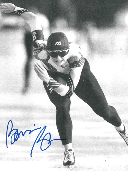 """Bonnie Blaire Autographed 5.5""""x7"""" Photo"""