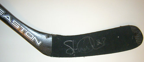 Steve Duchesne Autographed Game Used Stick