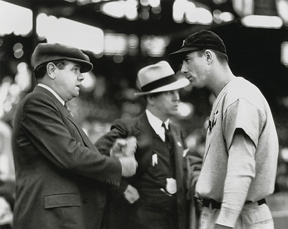 Hank Greenberg & Babe Ruth Photo - Black & White