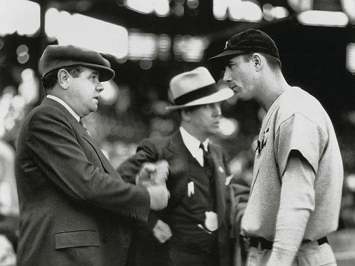 Hank Greenberg & Babe Ruth Photo - Black & White