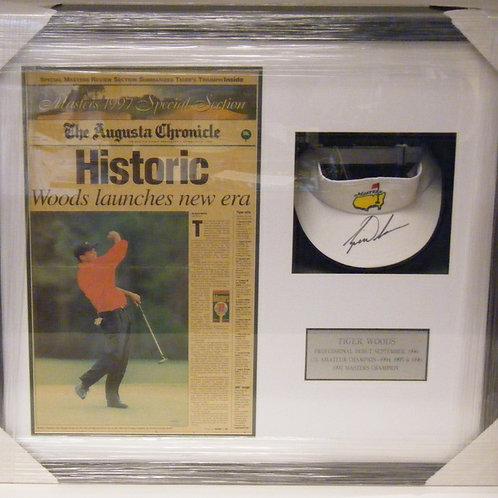Tiger Woods Autographed Visor Piece