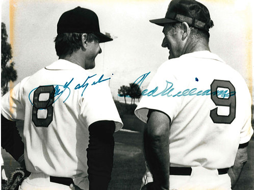 Ted Williams and Carl Yastrzemski Autographed Picture