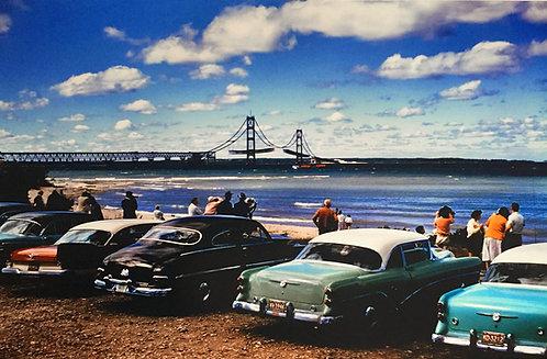 Mackinac Bridge Construction Photo