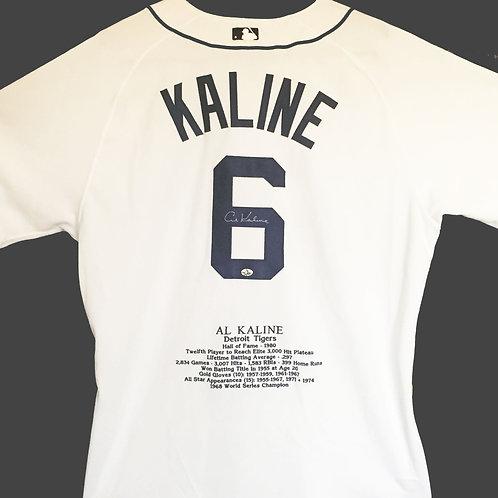 Al Kaline Autographed Statistics Jersey