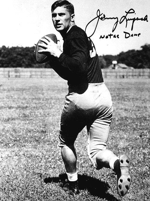 Johnny Lujack Autographed 8x10 Photo