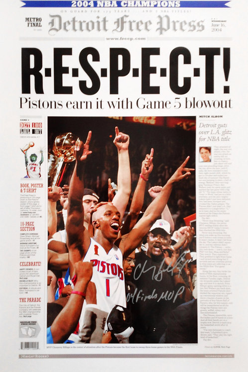 Chauncey Billups Signed Free Press Poster