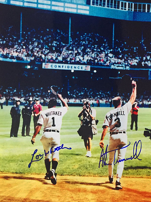 """Alan Trammell Lou Whitaker Signed """"Farewell"""" Photo"""