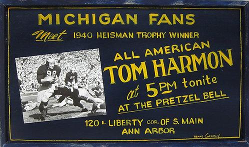 """Tom Harmon """"Vintage"""" Wood Sign"""