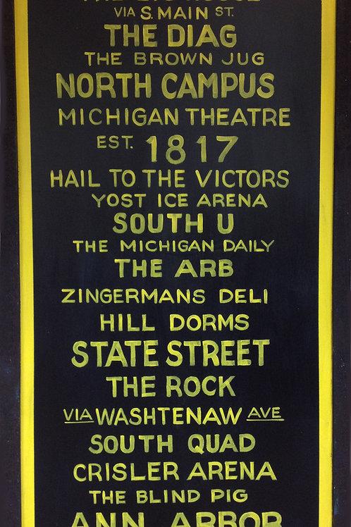 Ann Arbor Subway Sign