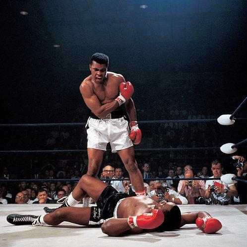 Muhammad Ali vs. Sonny Liston Colorized Fight Shot
