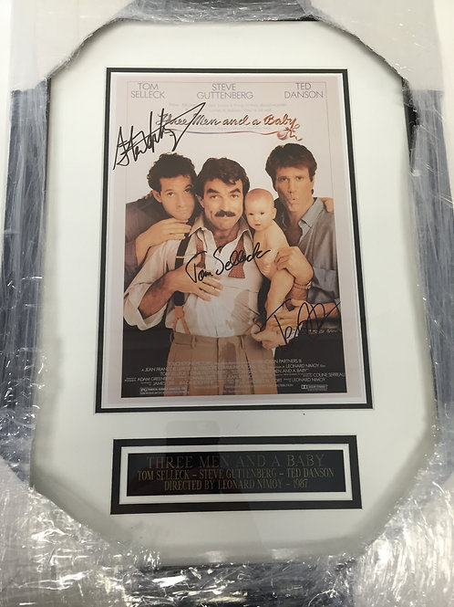 Three Men and a Baby Autographed Movie Poster