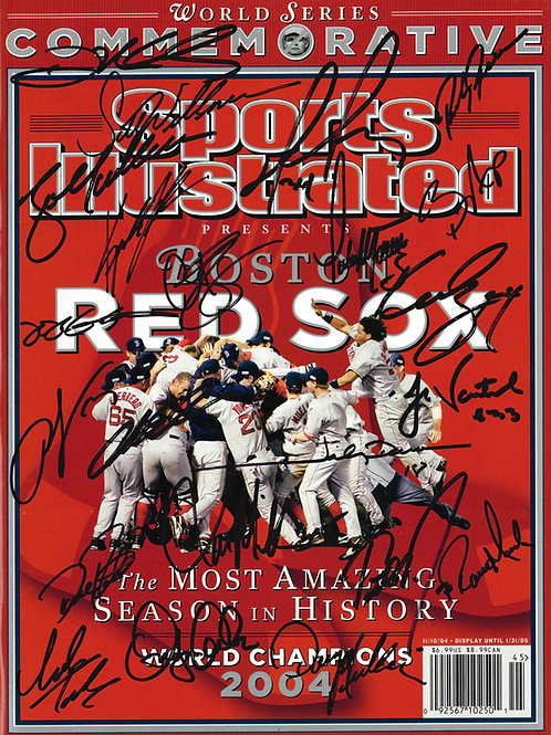Boston Red Sox Autographed Sports Illustrated