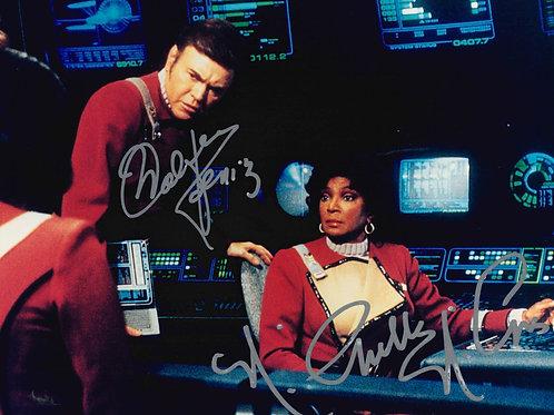 Nichelle Nichols and Walter Koenig Dual Signed 8x10 Photo