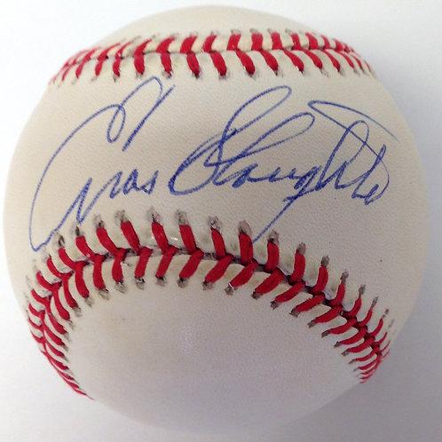 Enos Slaughter Autographed Baseball