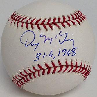 Denny McClain Autographed Baseball