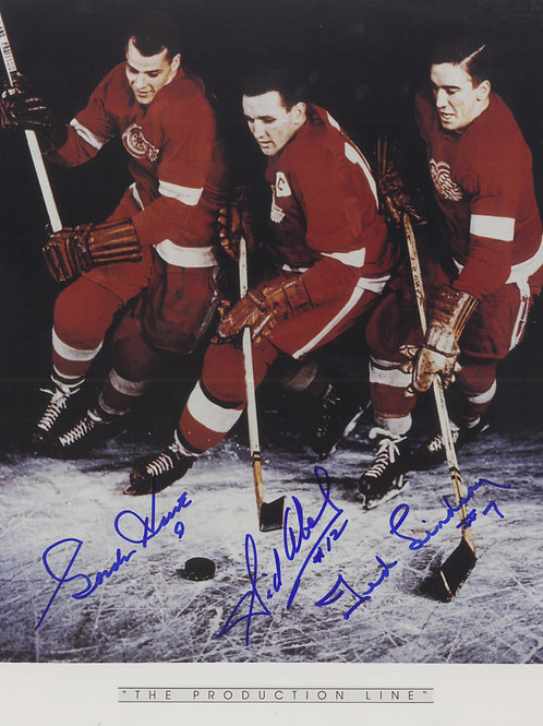 Production Line--Signed 8x10--Abel, Howe, Lindsay