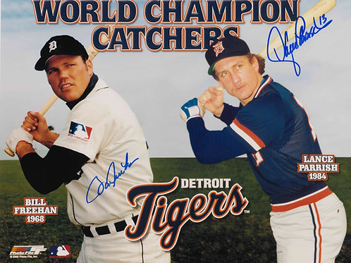 Bill Freehan and Lance Parrish Dual Signed Photo
